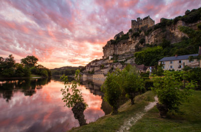 Sinset on Beynac Camping Dordogne